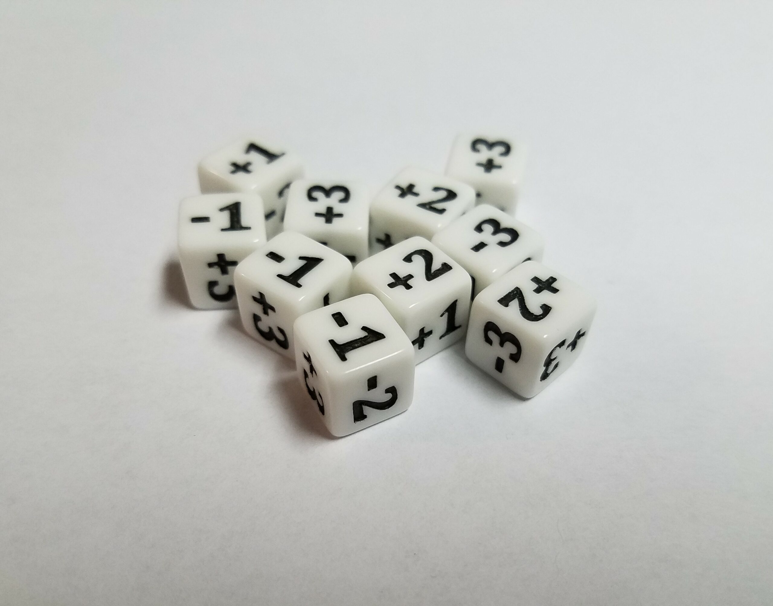 Mini Counter Dice White